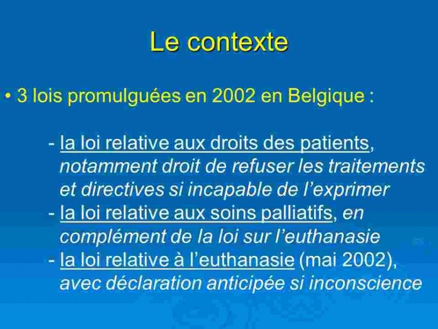 lois promulguees en 2002 en Belgique